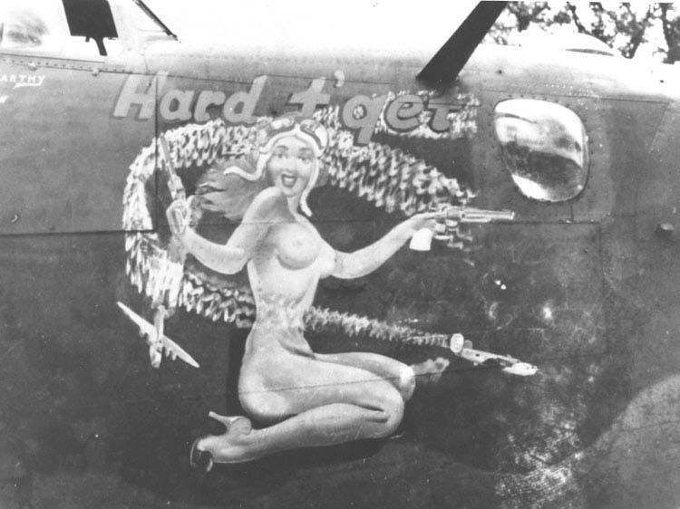 Decoration on B-24 \'Hard to Get\'