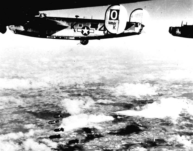 B-24s over the target