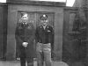 Colonel Glendon P Overing and an unknown RAF officer