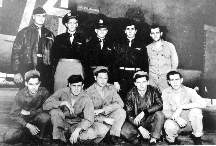 Lt Owen Sowers and his B-24 crew before leaving the States