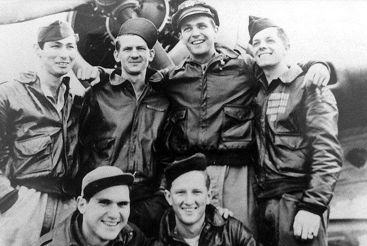 Lt Farrell and his B-24 crew