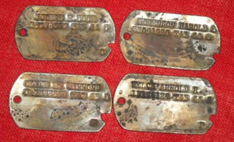 Recovered dogtags
