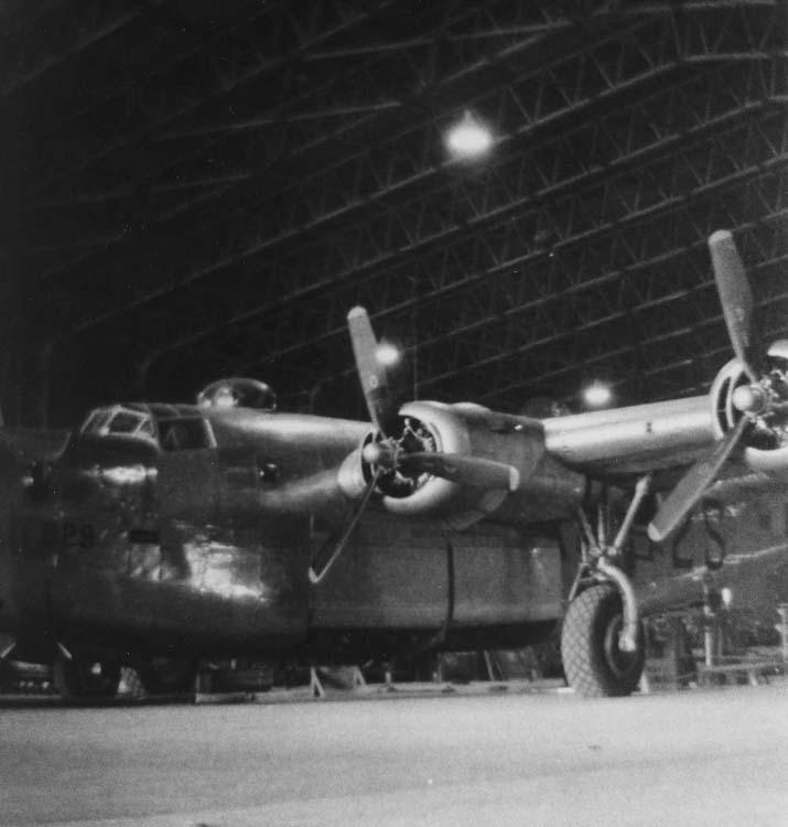 B-24 inside Hangar No 2 May 30 1944.