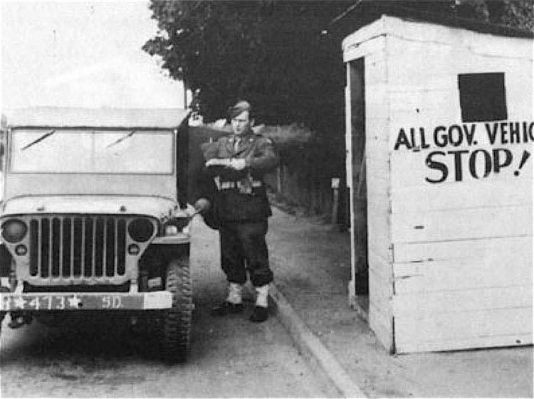 MP at the main gate