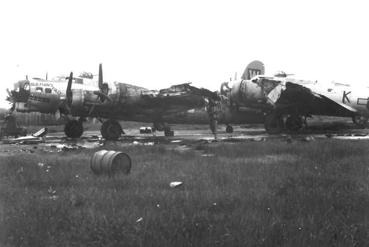 B-17 collision 1