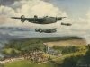 \'Liberators over Long Melford\'