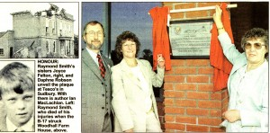 SFP report on the unveiling of a plaque at Tesco