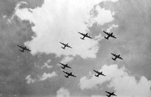 The roar of Liberators over Sudbury