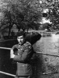 Another GI from Station 174 on the 'little bridge' - Tim Rothwell in late summer 44.