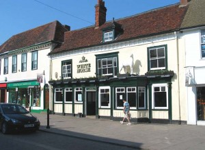 The scene of the fight - the White Horse in 2009