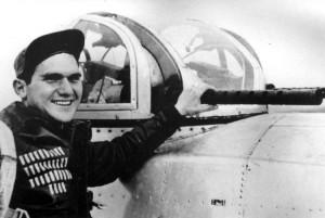 Charles 'Bud' Huggins, top turret gunner in Lt Farrell's crew