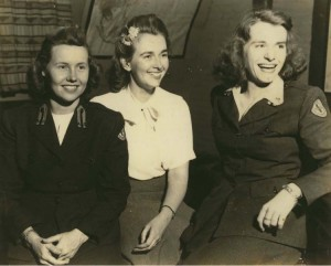 The three Red Cross girls- L to R: Kay Hutchins (Brainard), Mary Jo Wymond and Jean St Clair